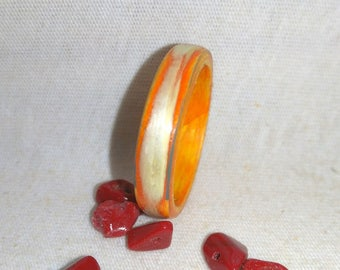 Orange Cloud Collection Bentwood Willow Wood rings