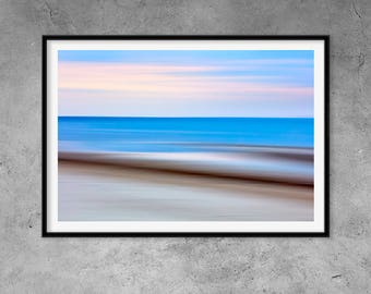 Abstract Costal Ocean Wall Art Print, Beach Photography, Coastal Decor, Modern Photography, Printable Large Poster, Digital Download.