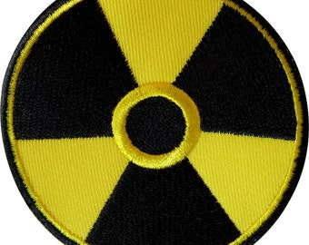 Radioactive Patch Iron Sew On Badge Warning Danger Radiation Hazard Symbol Sign