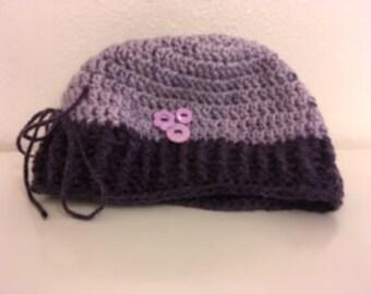 Purple beanie hat