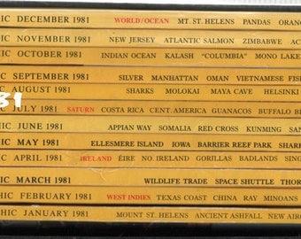 National Geographic Magazine 1981 Set of 12 in Sturdy Box Sleeve