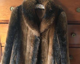 Vintage 70's fur coat size m-l