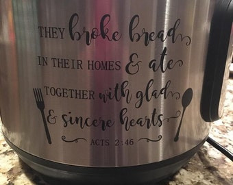 InstantPot Decal Acts 2 Straight