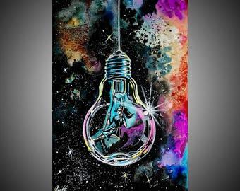 Like a star watercolor painting, Watercolor, Watercolor wall art, Watercolor wall decor, Watercolor decor, Watercolor art, Artwork
