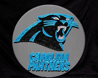 Carolina Panthers String Art - 15 inches