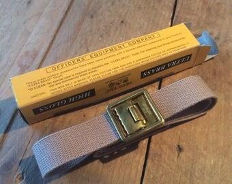 Vintage USMC brass buckle belt