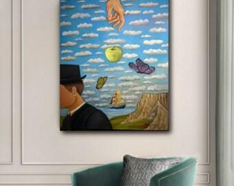 spring temptation, sourealistic, oil painting, on canvas,contemporary, asteriouart, livingroom, art deco, original painting, art painting