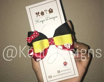 Minnie Mouse Bow, Minnie Mouse Hair Bow, Minnie Mouse Costume, Women Minnie Mouse Costume, Girls Minnie Mouse, Mickey Mouse