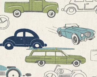 Old Cars Fabric- curtains, throw pillows, roman shades