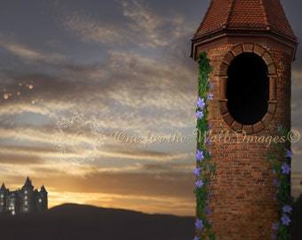 Rapunzel tower Digital Backdrop