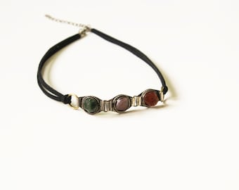 Boho jewelry choker necklace.