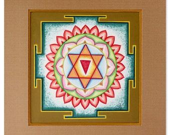 Spiritual Yantra Painting, 'Chandi II'