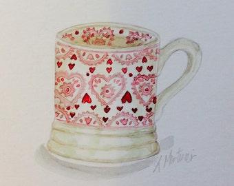 Emma Bridgewater sampler mug watercolour painting