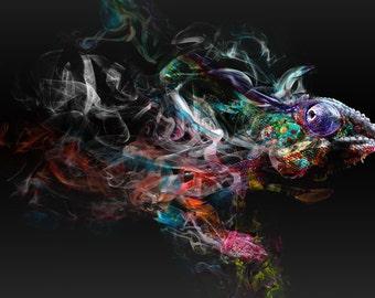 Smokey Chameleon (black)