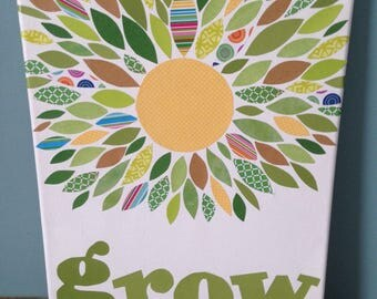 Grow Paper Craft Canvas