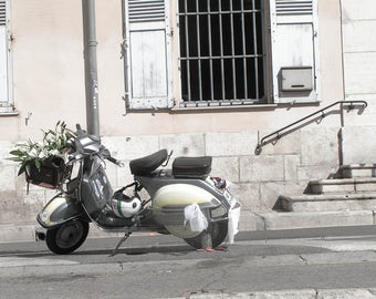 A wedding scooter, Antibes, South of France