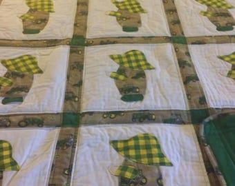 Sun Bonnet Sam John Deere quilt