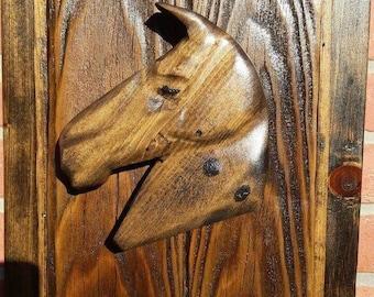horse sculpture, wood sculpture, reclaimed wood, wall sculpture, wall art, wall decor