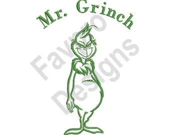 Mr. Grinch - Machine Embroidery Design
