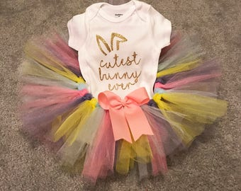 Easter onesie Easter shirt Easter tutu cutest bunny ever