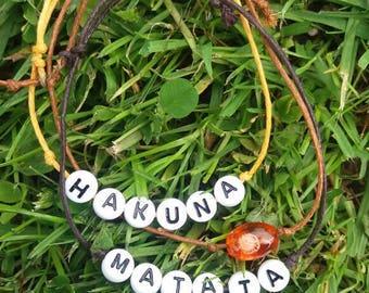 No worries... Hakuna matata inspirerd bracelet set