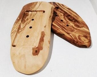 Saboneteira em Oliveira Reciclada Irregular - Irregular shape recycled Olive Tree soap dish - door Olivier Recycle irregular SOAP