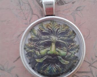 Green Man Jack of the Green pendant Necklace