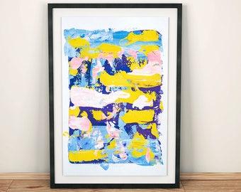 PRINTABLE wall art Color Itself gouache painting