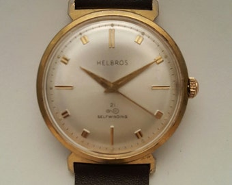 Vintage HELBROS gents watch c. mid 1960's-------SERVICED------