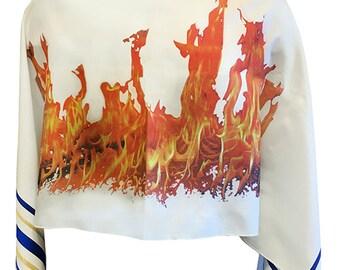 Flame-of-Pentecost-Prayer-Shawl-Jewish-Messianic-Tallit