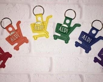 Keychain, Key chain, Shopping Cart, Quarter Keeper, Buggy, cart, Shopping, Discount Shopping, Savings, Discount store