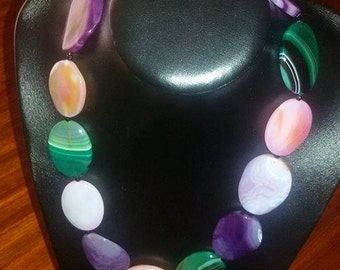Onyx stones necklace.