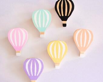 Kids Wall Hooks - Hot Air Balloon