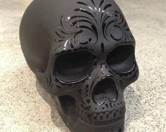 Matte glossy skull