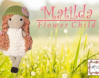 Matilda - Flower Child Crochet Doll