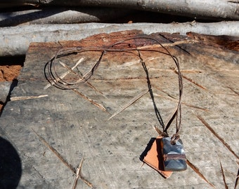 old wrench necklaces with leather strip