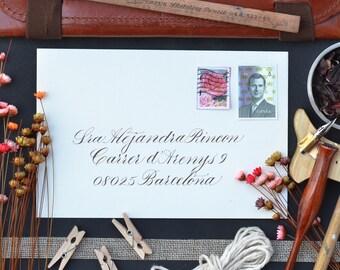 Modern Hand Lettering Envelope Calligraphy