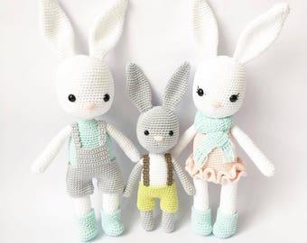 3 PATTERNS - Wilbur, Hubert and Jenny - amigurumi pattern, crochet pattern, PDF
