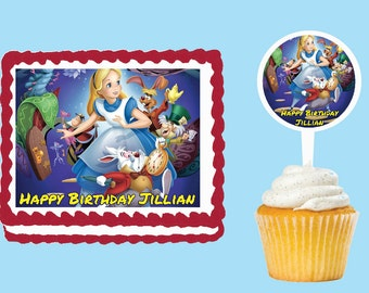 Alice in wonderland cake toppers Etsy