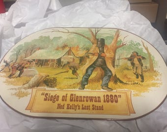 place mat of the siege  of Glenrowan 1880 Ned Kelly's last stand