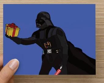 Darth Vader - Star Wars - greeting card - birthday - the force - movies - pop culture