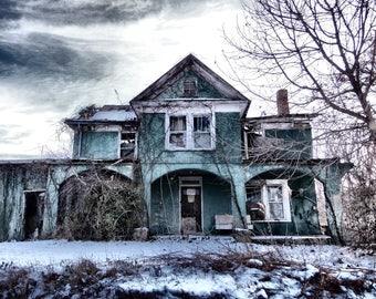 Abandoned Places Photography, Abandoned House Photograph, House Photography, Old House Photography, Abandoned House Print, Rustic House