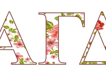 White Flowers Decal