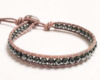 Handmade Hematite Single Bracelet
