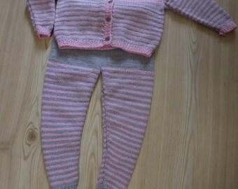 Pink-gray kids costume