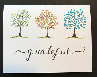 Grateful Card with trees