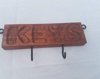 Carved key rack/holder