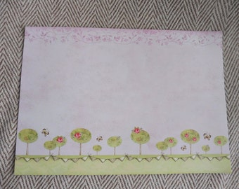 Printed scene Scrapbook page. Pink scrapbook page. Make your own scrapbook. Card scrapbook page.