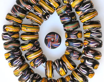 46 Rare Old Matched Venetian Circular Beads - Vintage African Trade Beads - F3123