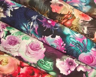 Floral Swirl Print Fabric